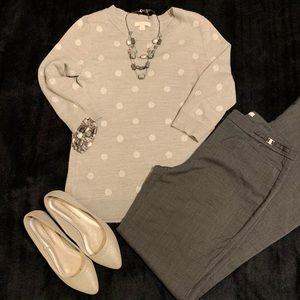 New York & Company Gray Pattern Dress Pants